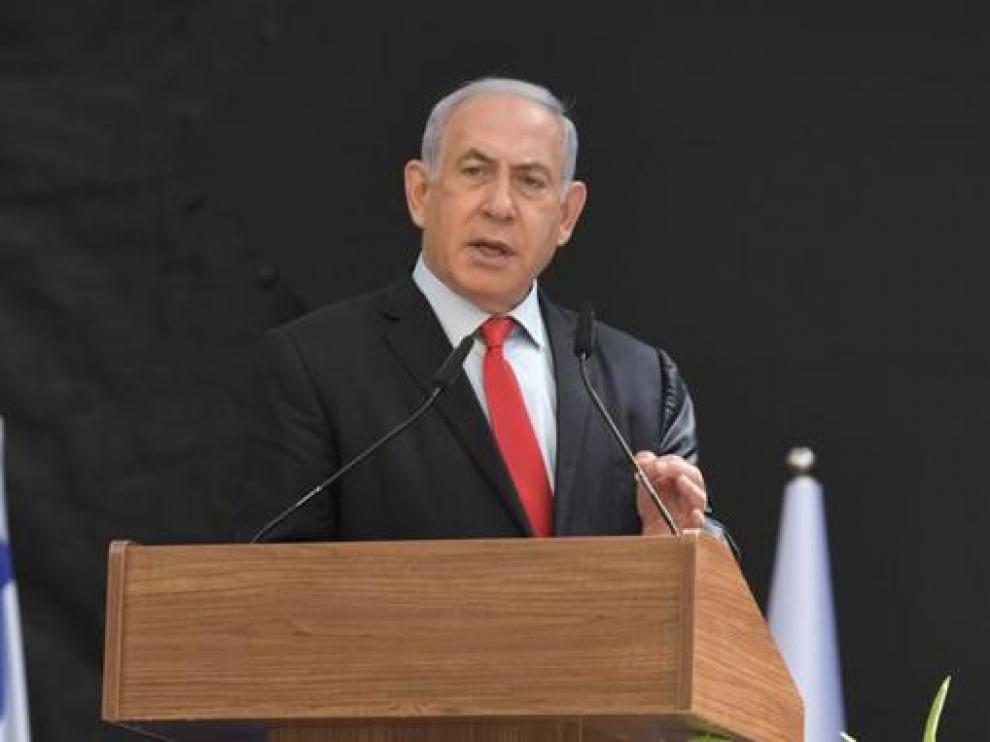 Netanyahu, este martes en la presentación de David Barnea como nuevo director del Mossad.