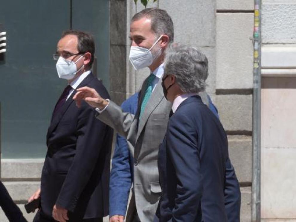 Felipe VI y el presidente de Portugal este viernes en Madrid