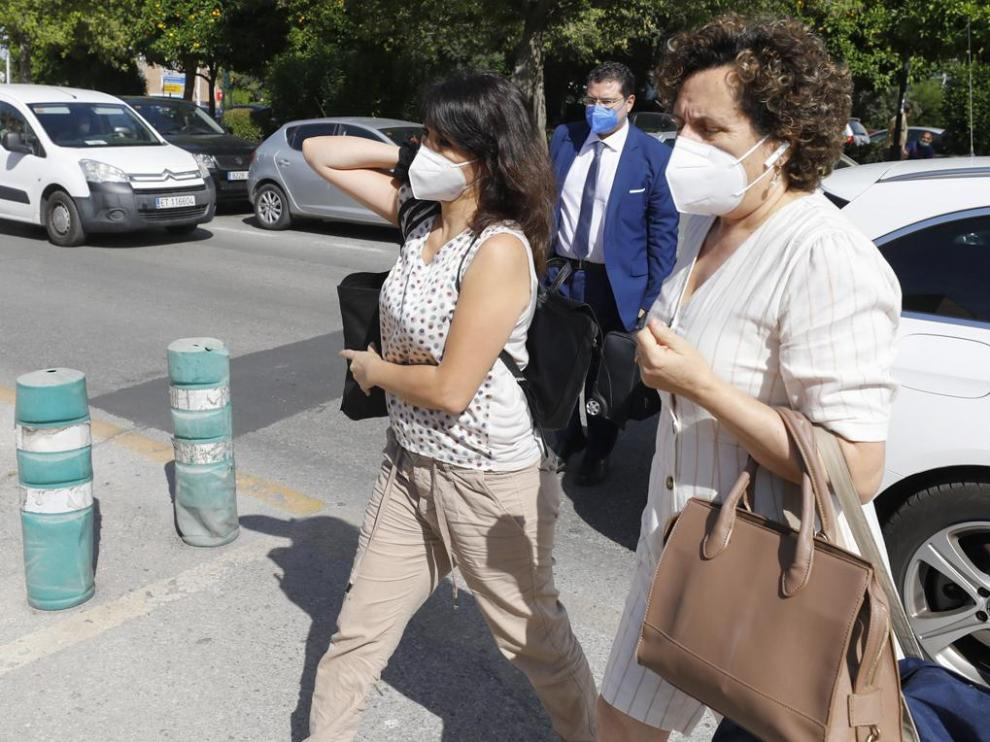 Juana Rivas, antes de acceder al centro de inserción social Matilde Cantos en Granada capital