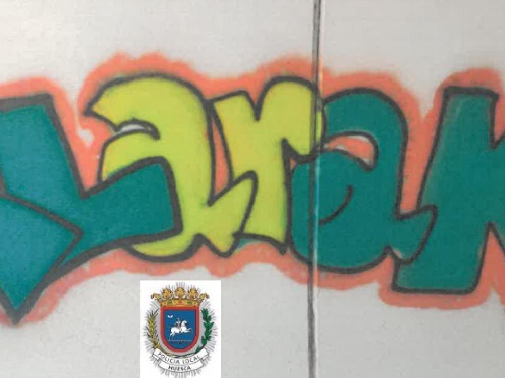 Uno de los grafitis realizados