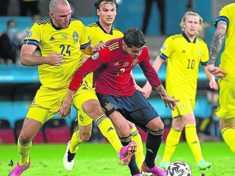 Álvaro Morata estuvo muy desacertado de cara a la portería.