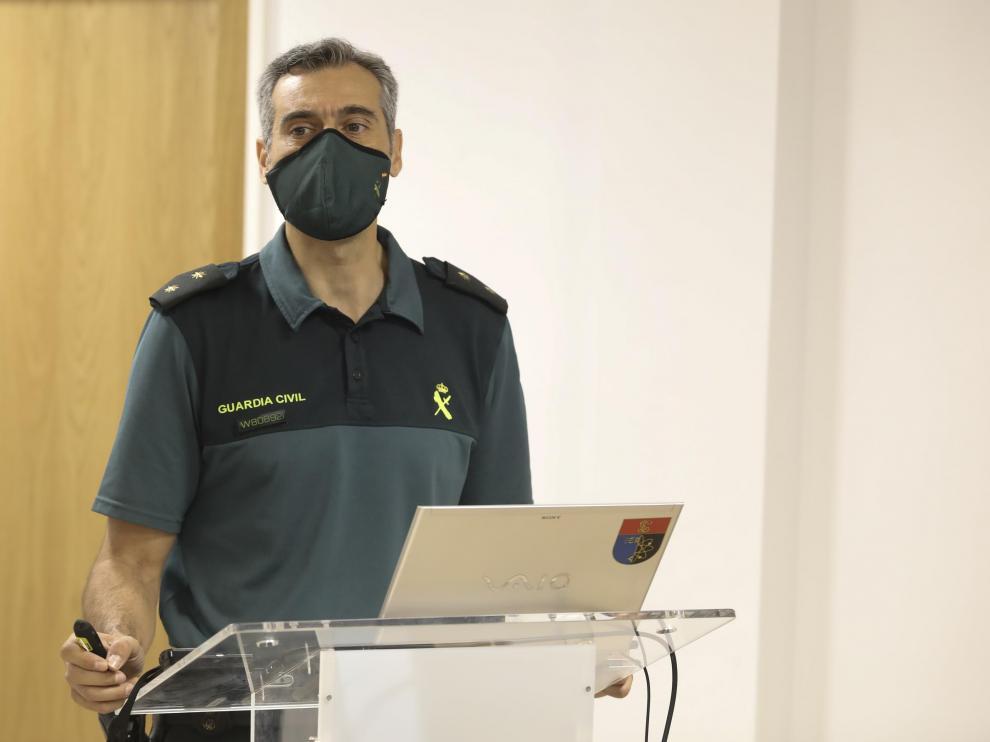 El teniente coronel de la Guardia Civil Francisco Pulido este miércoles.