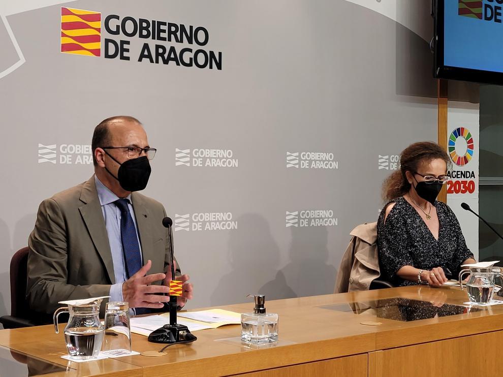 Felipe Faci durante la rueda de prensa de este jueves