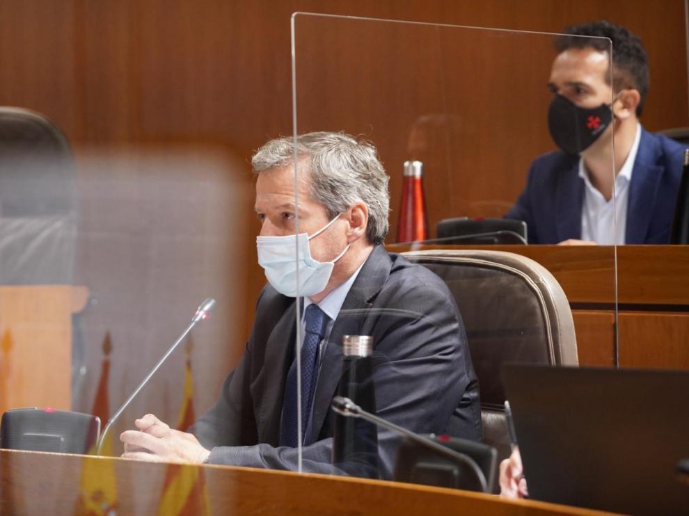 El líder de Ciudadanos y portavoz en las Cortes de Aragón, Daniel Pérez Calvo.
