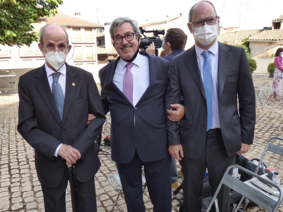 Hipólito Gómez de las Roces, Joaquín Guerrero y Alberto Gimeno, esta semana en Barbastro