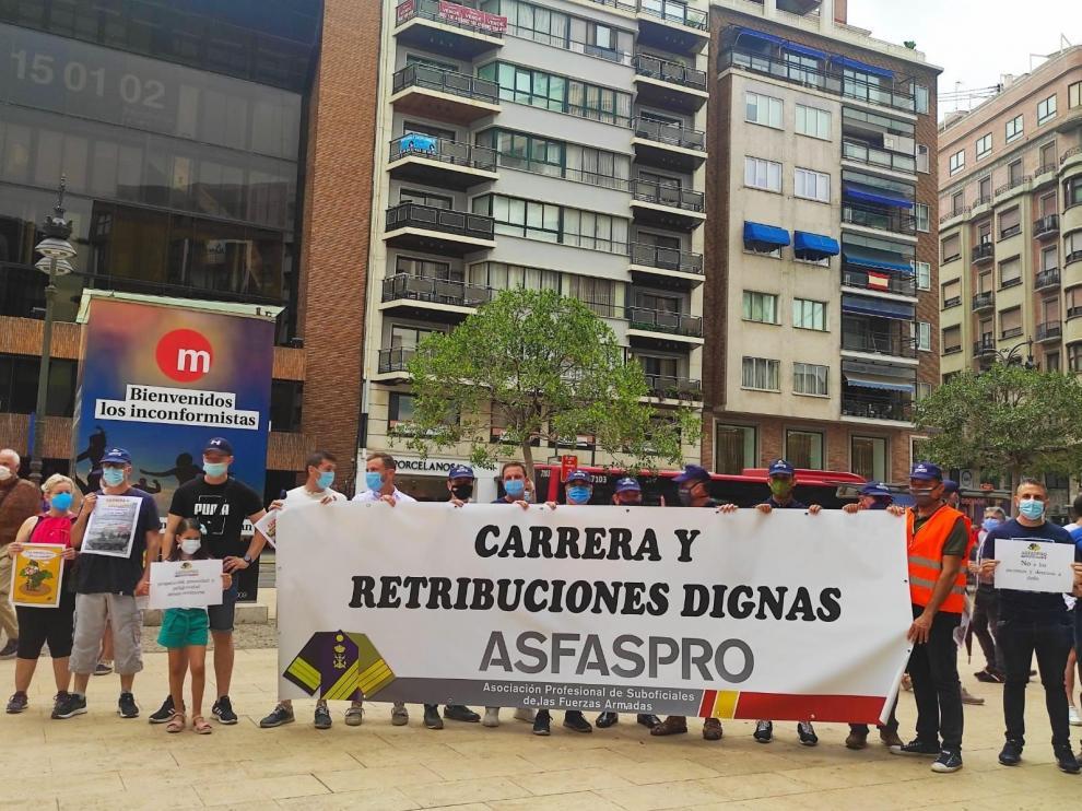 Protesta de la Asociación de Profesional de Suboficiales de las Fuerzas Armadas.