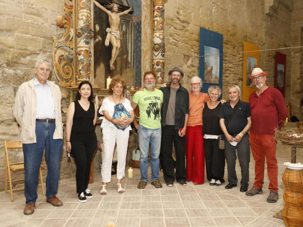 Carbó, Bellot, Esporrín, Martín, Hernández, Sanmartín, Reinaud, Orleans (que no expone) y Puch.