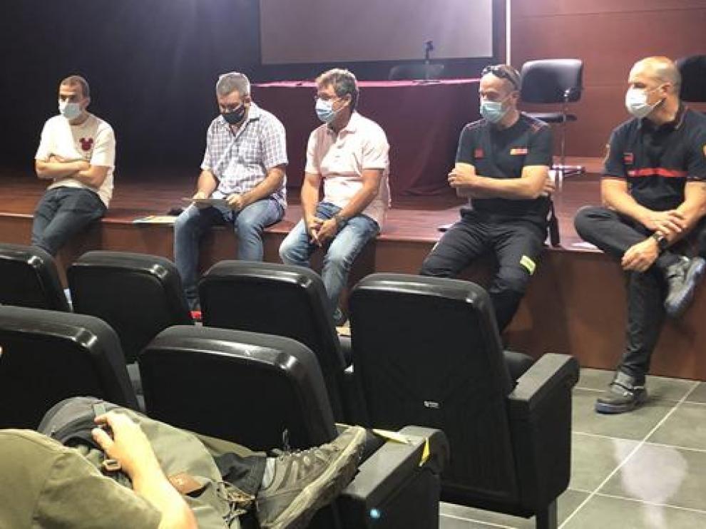 Imagen de la reunión celebrada el lunes en la sede comarcal.