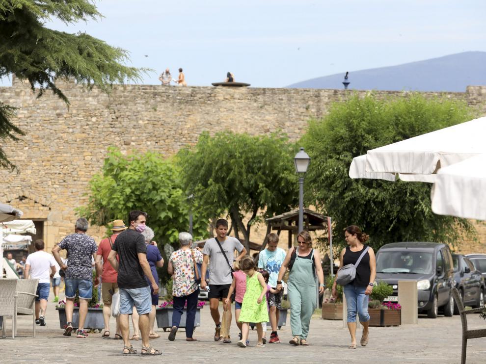 El turismo familiar, protagonista en el Sobrarbe.