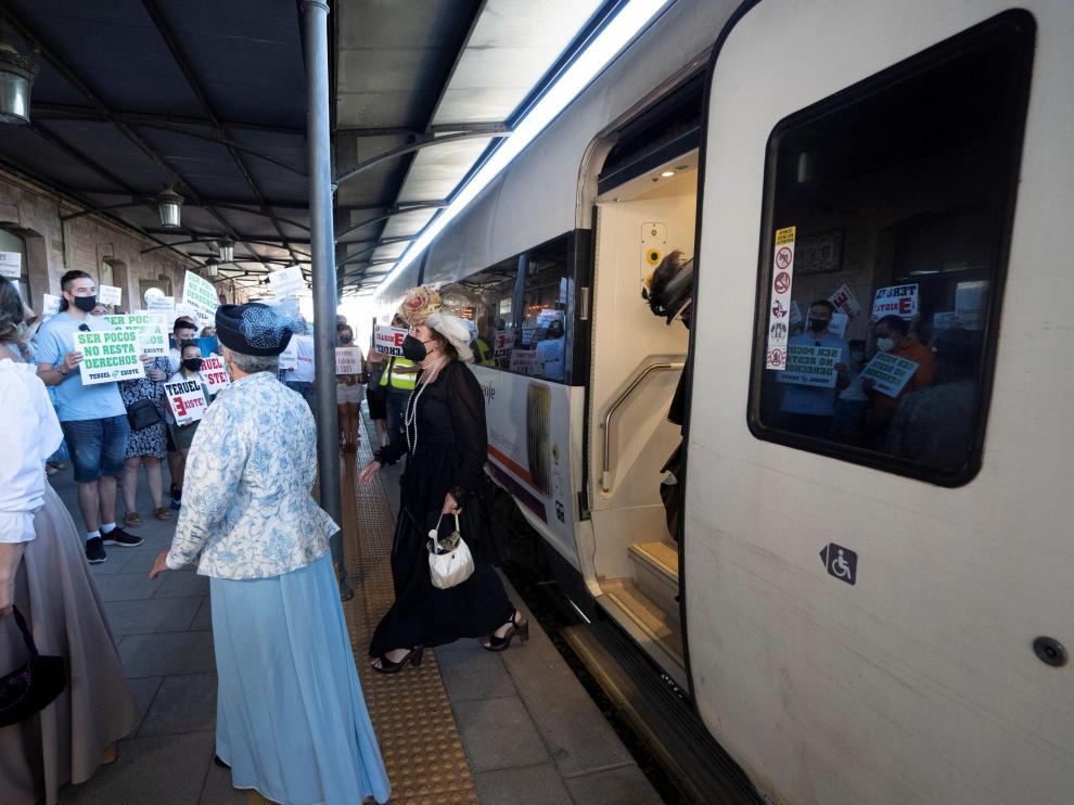 Recreación del 120 aniversario de la inauguración de la línea ferroviaria