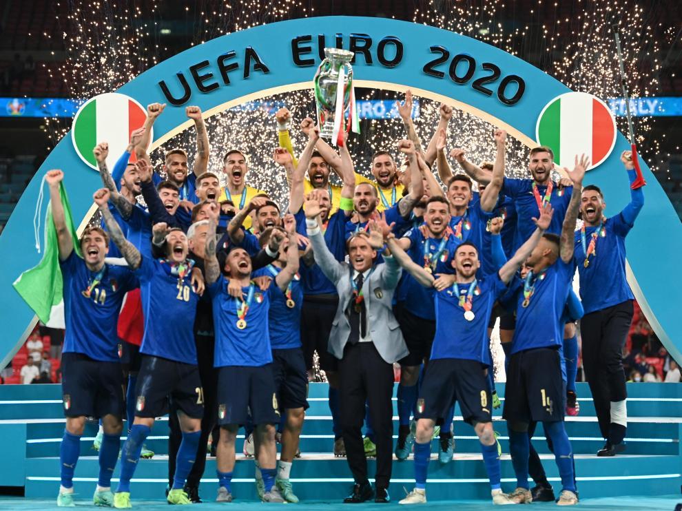 Italia conquistó su segunda Eurocopa en Wembley.
