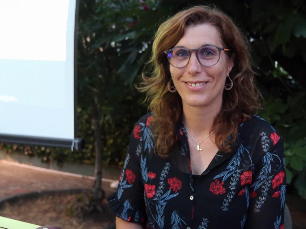Nereida Torrijos, la noche del miércoles en el jardín del IEA.