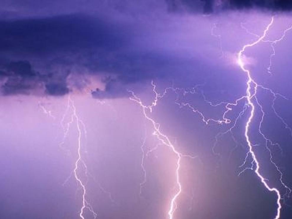 Imagen de una tormenta eléctrica