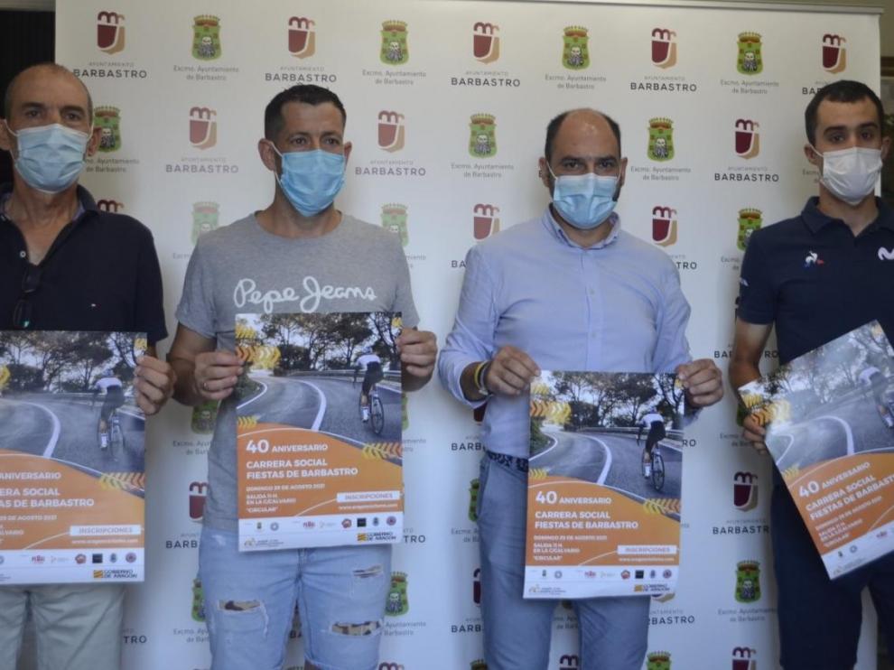 De izquierda a derecha: Rubio, Marín, Torres y Samitier.