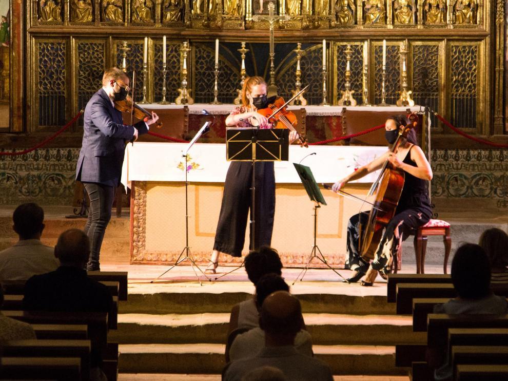 La Colegia de Bolea acogió el concierto de la prestigiosa formación Concerto 1700.