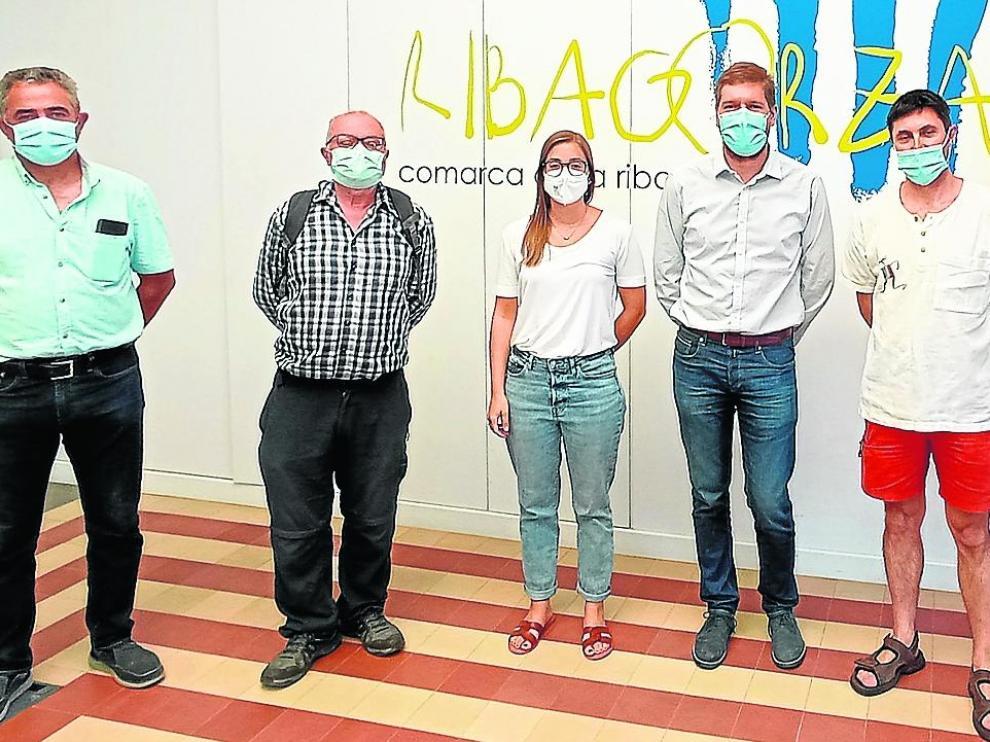 Recepción de la ganadora Cristina Puigdevoll en la sede de la Comarca de la Ribagorza