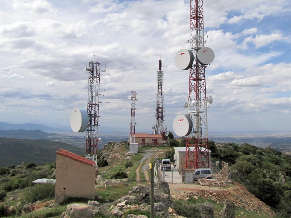 Centro de telecomunicaciones en la comunidad aragonesa