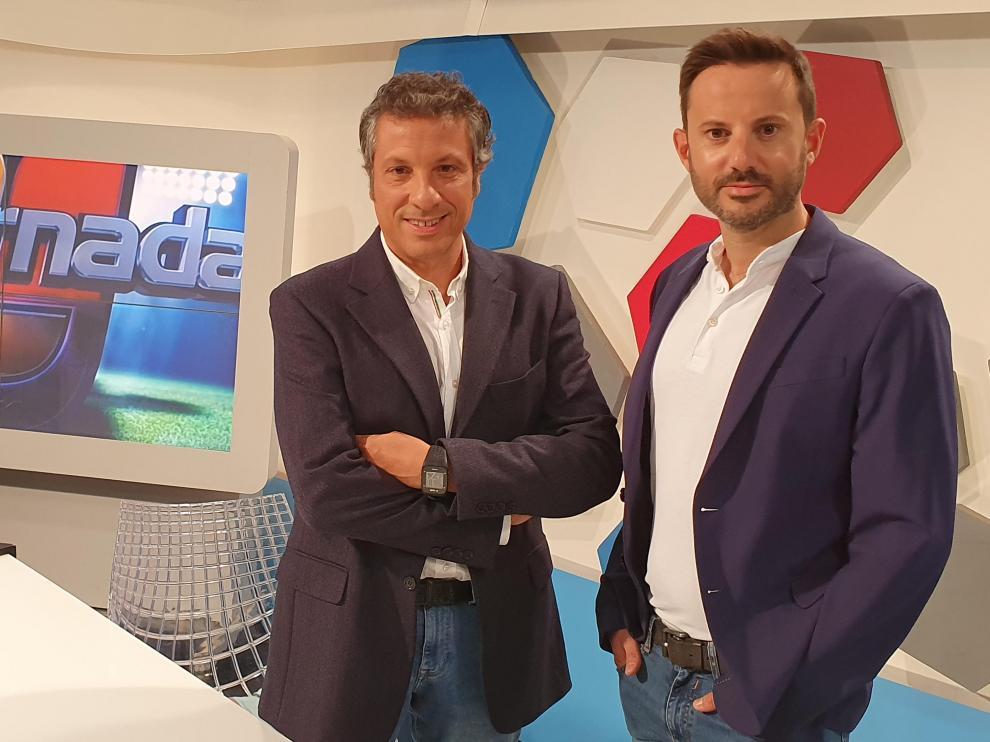 Pedro Hernández y Sergio Melendo, presentadores de La Jornada