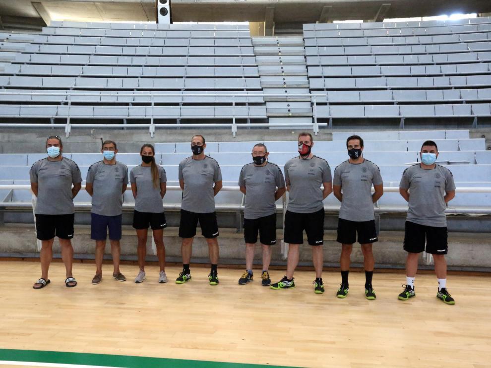 Cuerpo técnico del Bada Huesca.