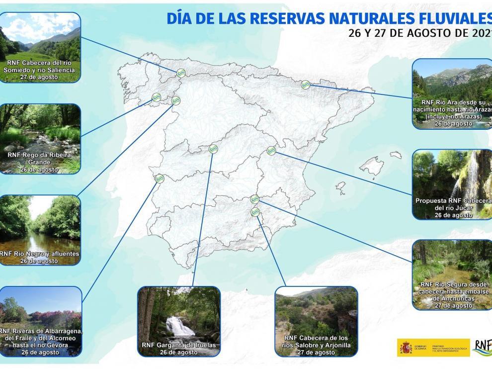 Cartel informativo con las jornadas didácticas fluviales que se celebrarán para el 26 y el 27 de agosto.