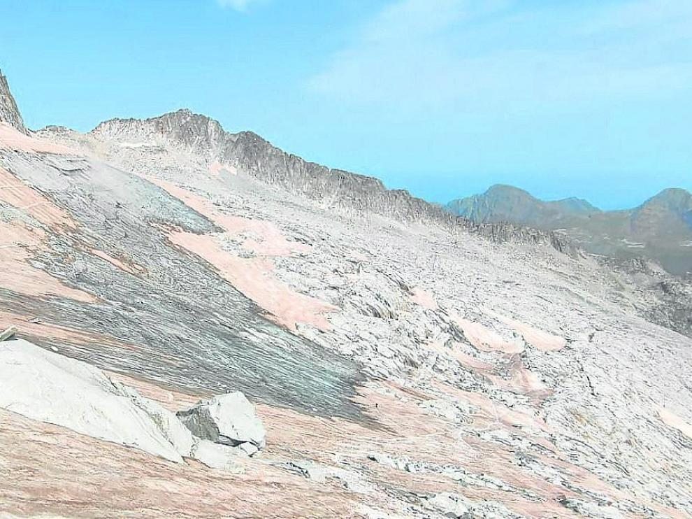 Glaciar del Aneto en estas fechas.