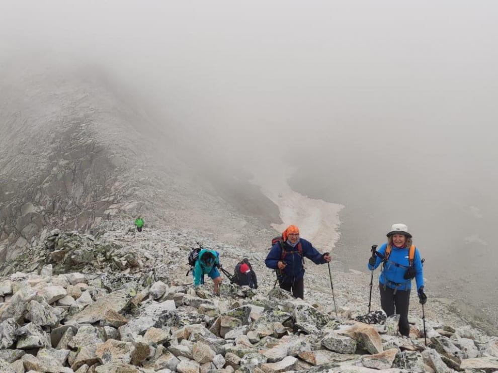 Imagen de la segunda excursión, la más exigente y que ascendió un tres mil.