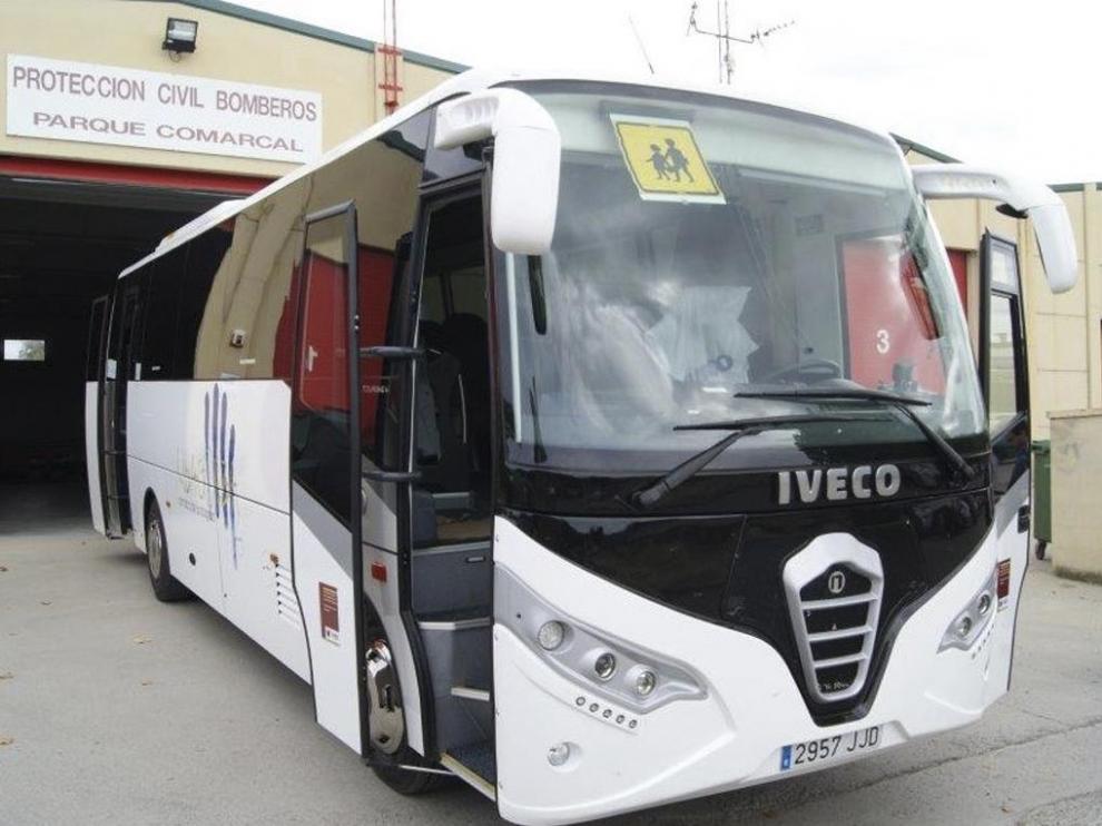 Autobús escolar en Ribagorza.