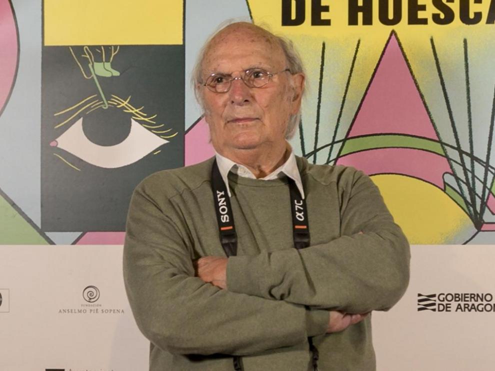 Carlos Saura, en la pasada edición del Festival Internacional de Cine de Huesca.