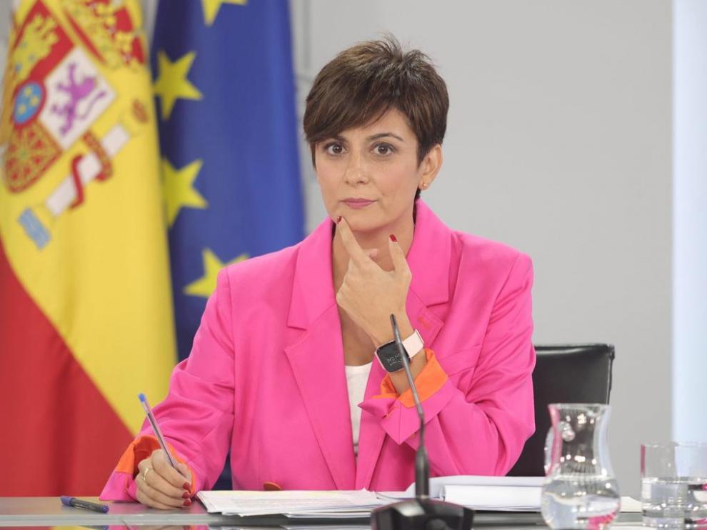 La portavoz del Gobierno, Isabel Rodríguez