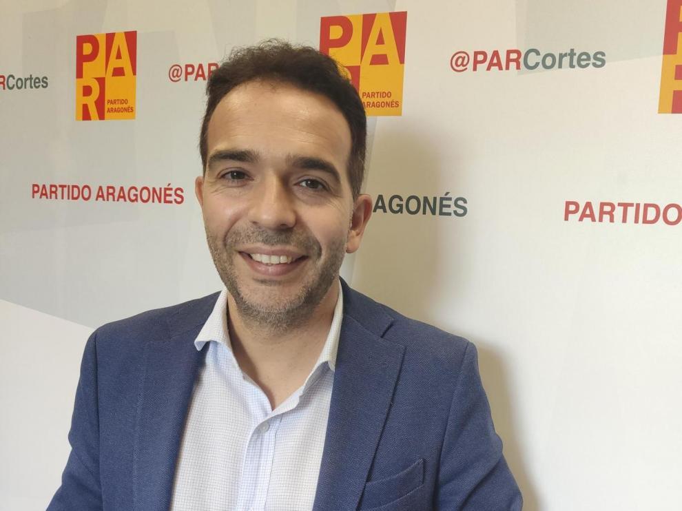 Jesús Guerrero,  portavoz del Partido Aragonés (PAR) en las Cortes de Aragón