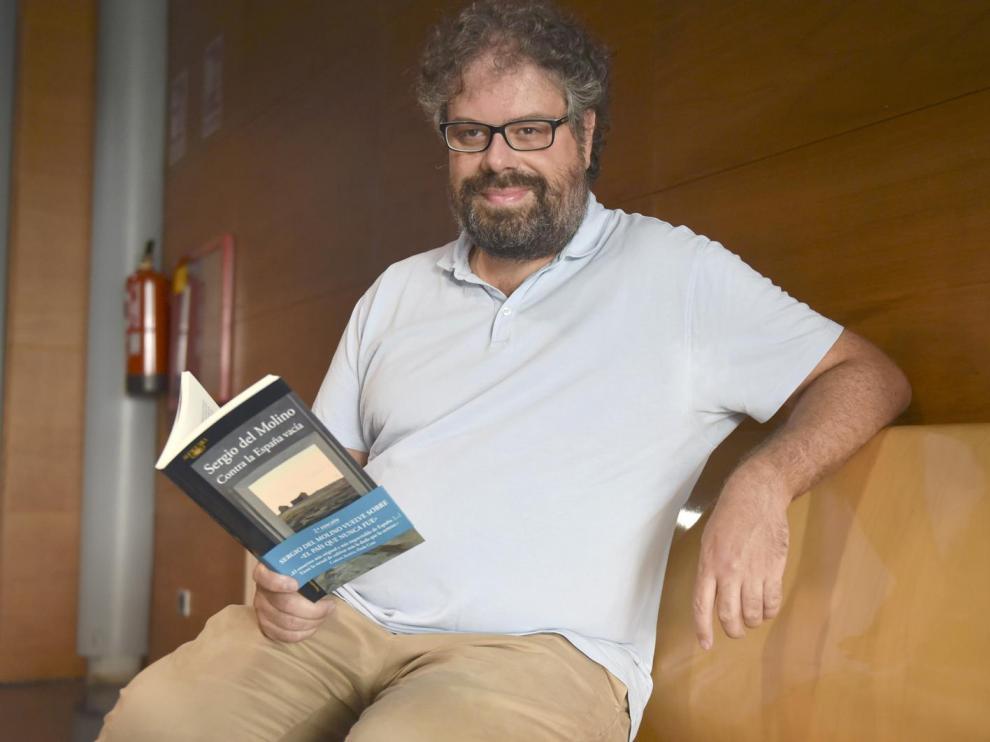 Sergio del Molino, este miércoles en Huesca