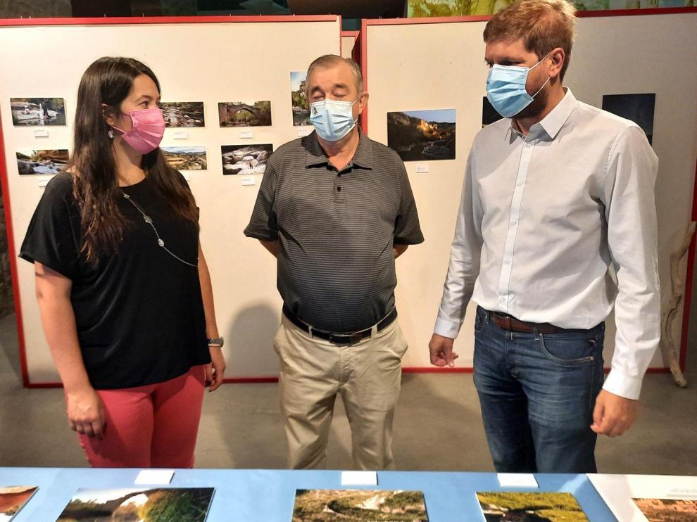En la foto, Esther Cereza Quintana, Ángel Aventín y Marcel Iglesias