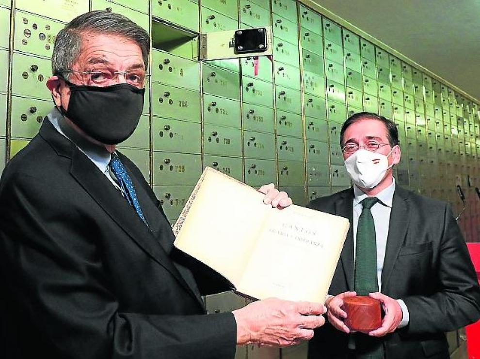 Ramírez y el ministro de Asuntos Exteriores, Unión Europea y Cooperación, José Manuel Albares.