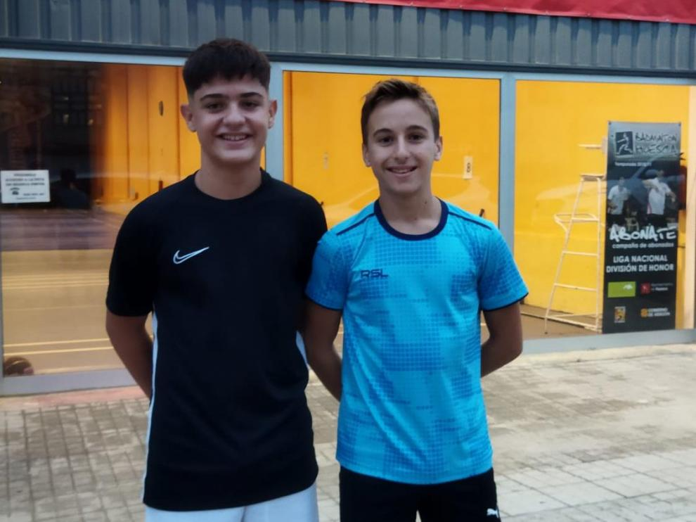Gonzalo Isabal y Raúl Bergua son los jugadores oscenses que participan en la concentración Se Busca Campeón.
