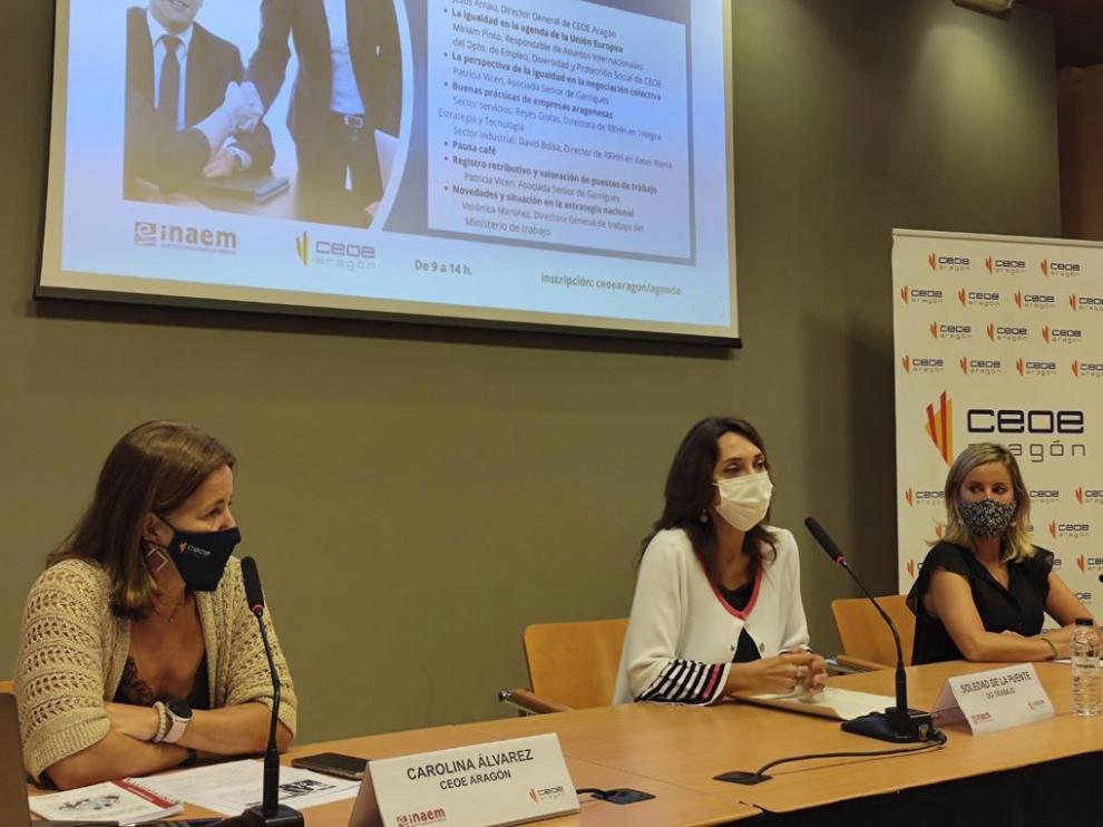 Imagen durante la jornada sobre buenas prácticas en negociación colectiva en igualdad de género.