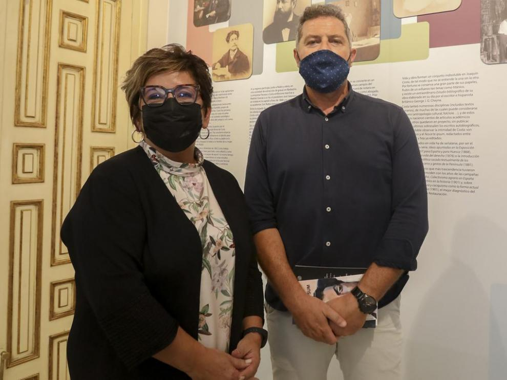 Elisa Sancho y Alberto Sabio, en la presentación del actualizado espacio.
