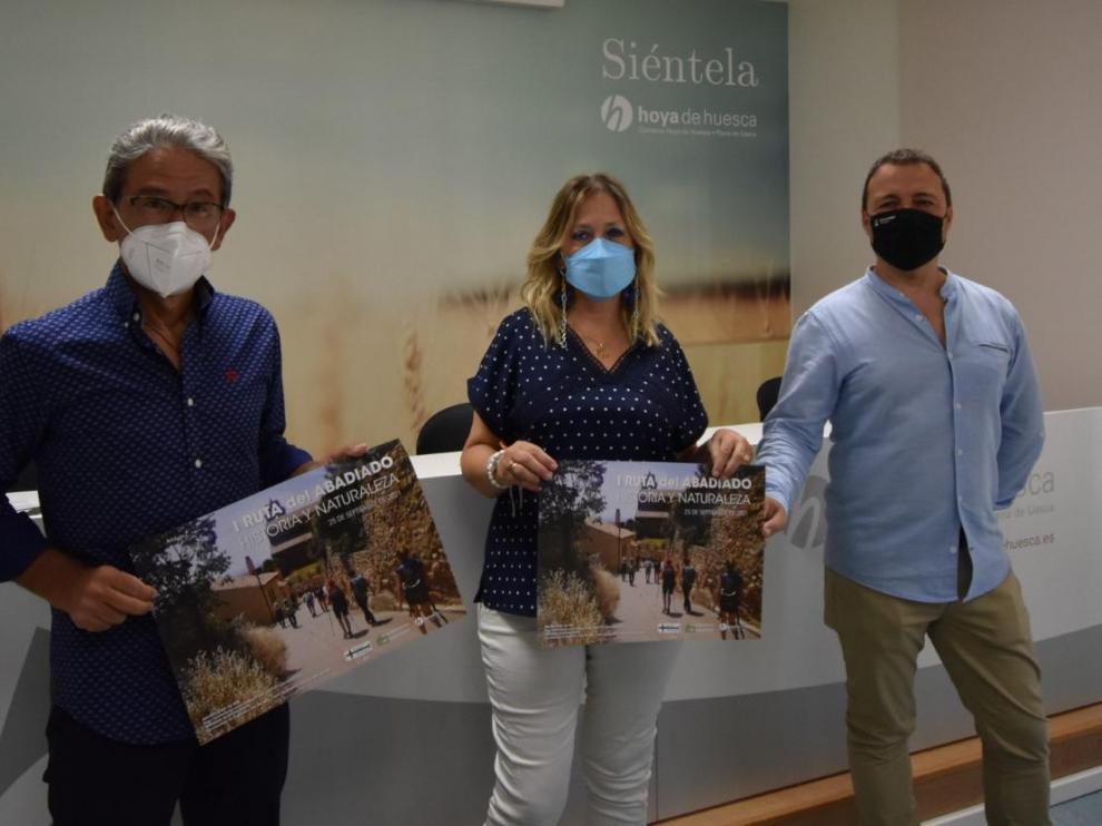 Antonio Rico, Beatriz Calvo y Roberto Malumbres presentan la I Marcha Popular del Abadiado de Montearagón