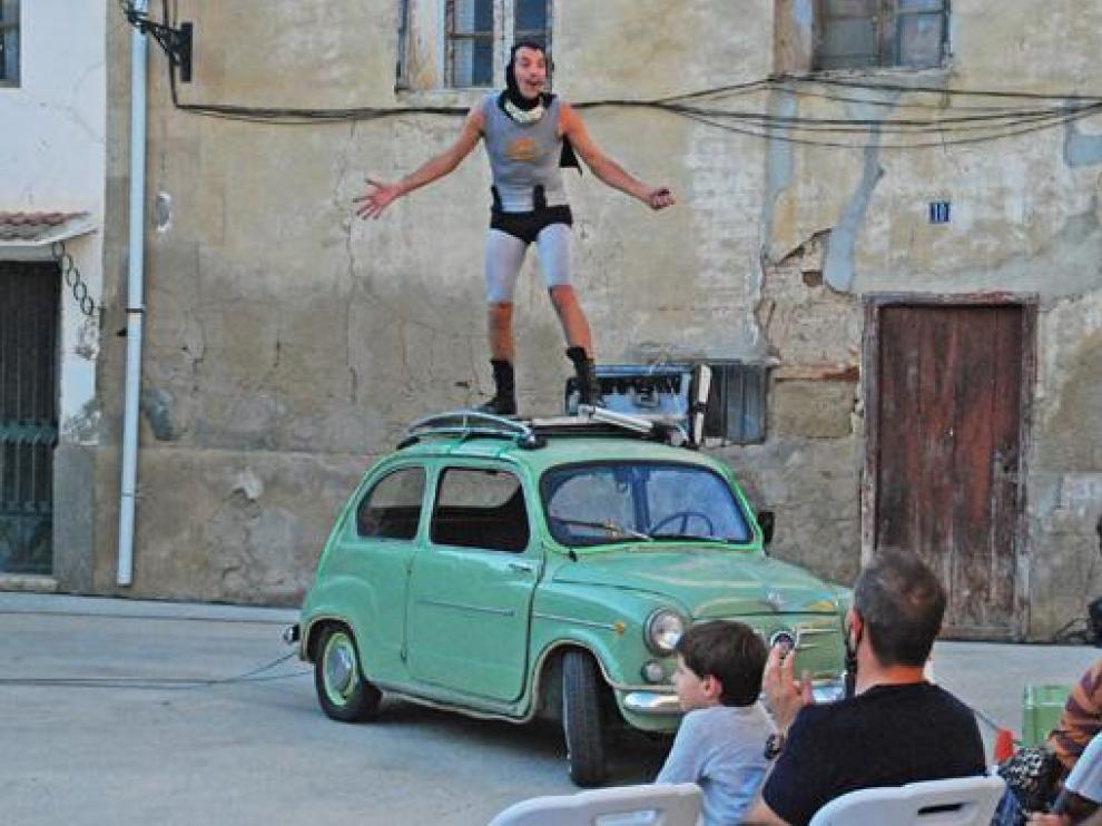 Un momento de la actuación de Javier Ariza, celebrada el pasado viernes dentro del festival.