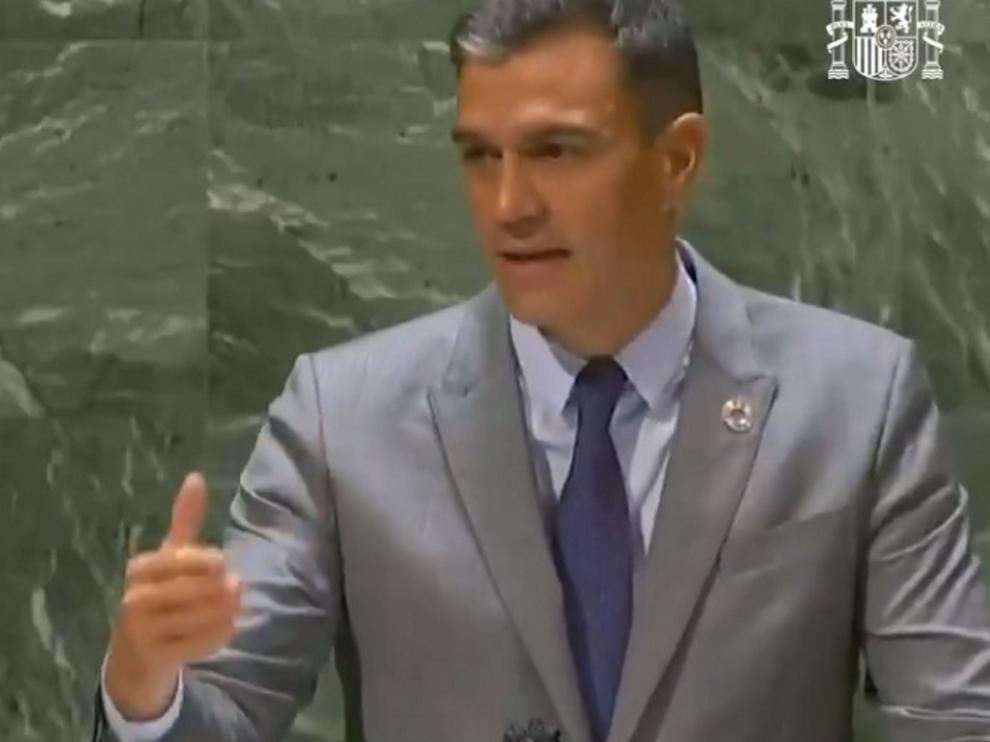 El presidente del gobierno en su intervención ante la Asamblea de la ONU en la madrugada de este jueves