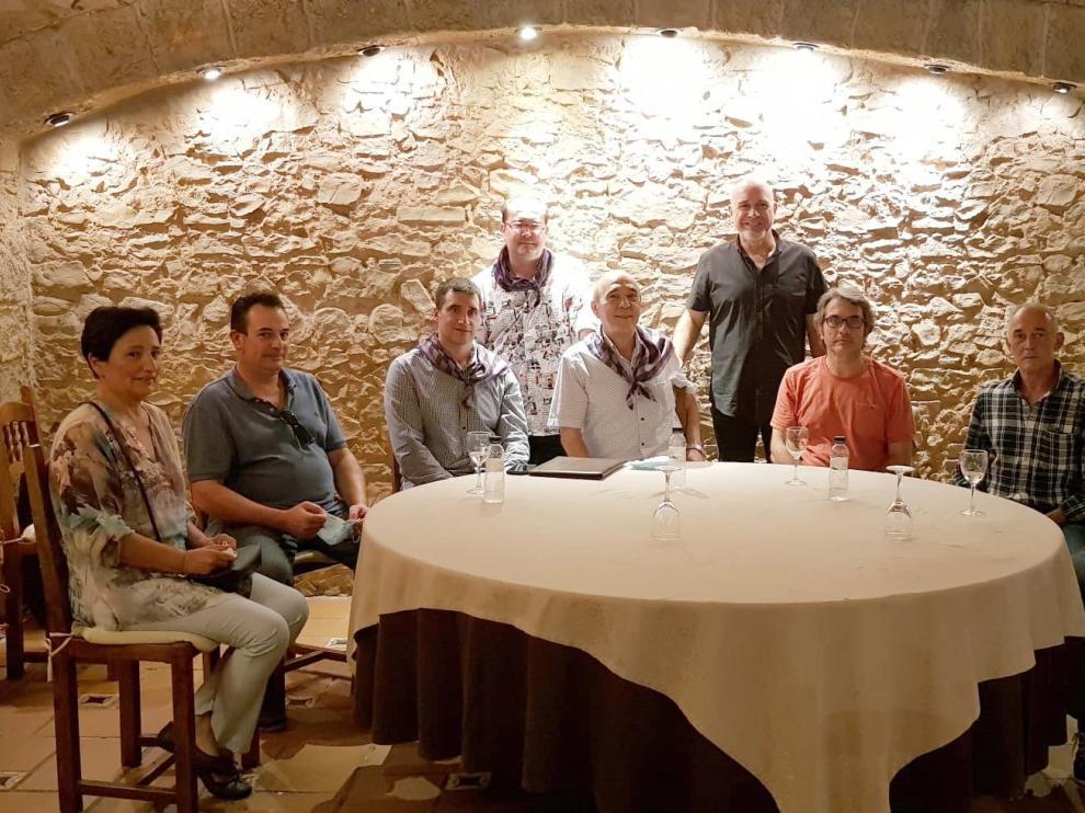 Participantes en la mesa redonda coloquio 'Dances de Los Monegros'.
