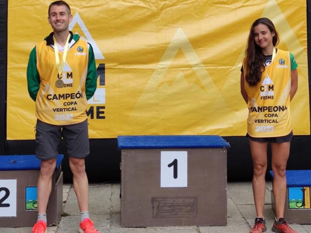 Alberto Gamero y María Ordóñez, ganadores en Canfranc y en la Copa de España