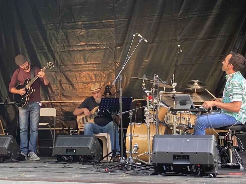 Jazz 4 fun en su actuación en el Pic Vert Festival del valle de Ossau.