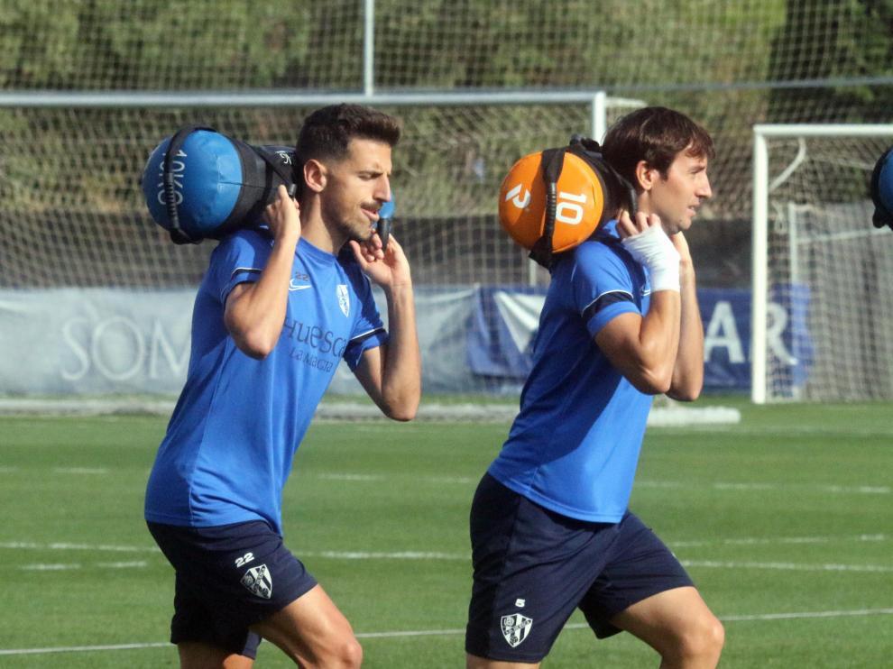 Juan Carlos, durante el entrenamiento de ayer.