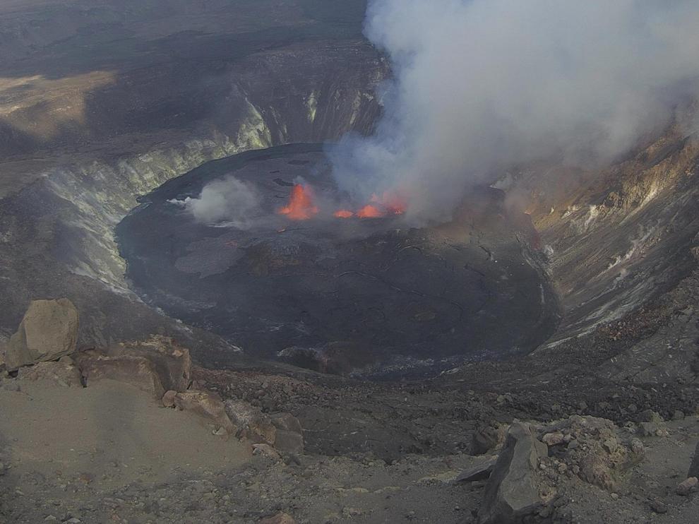 La colada del volcán de La Palma ha formado un pequeño delta de lava.