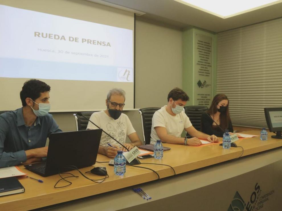 Rueda de prensa de la Asociación del Ocio Nocturno de Huesca.