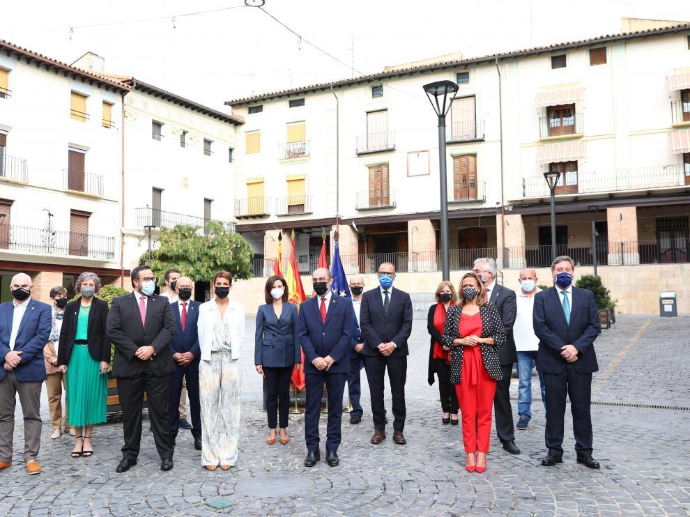 Reunión de los Gobiernos de Aragón y Navarra en Ejea de los Caballeros.