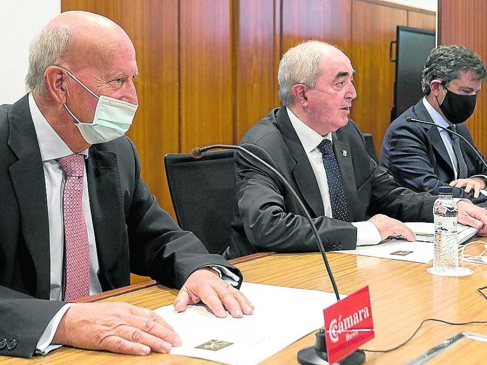 José Javier Mozota, Manuel Rodríguez Chesa y Salvador Galve presentaron ayer la Alianza en Huesca.