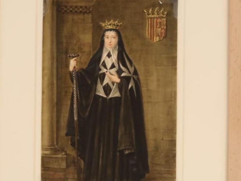 Acuarela de Doña Sancha de Castilla.