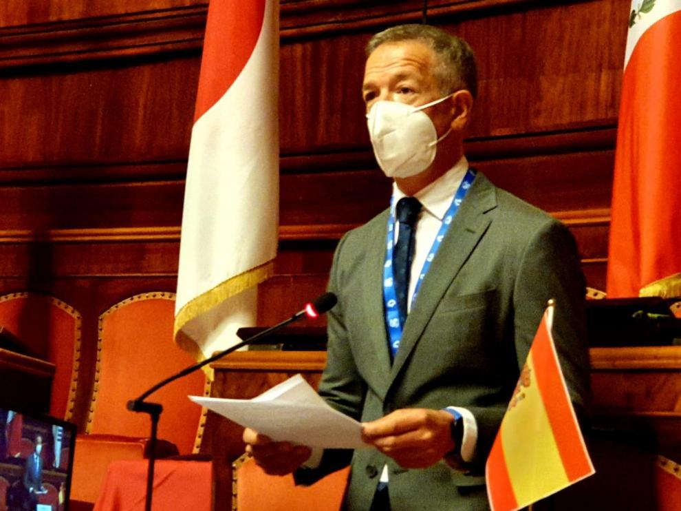 Ander Gil durante su intervención en la cumbre.
