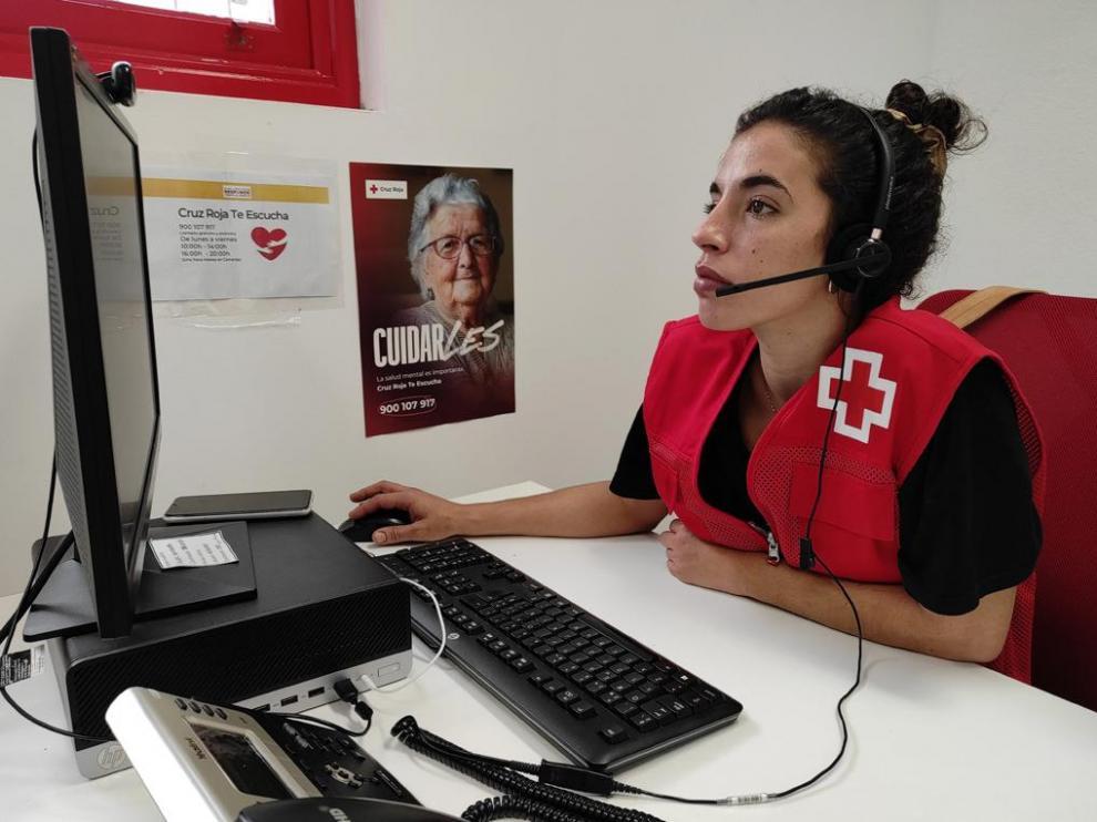 Cruz Roja ha puesto en marcha el servicio de apoyo psicológico 'Cruz Roja Te Escucha La Palma'.